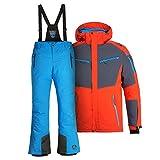 Killtec Herren Skianzug Farb- und Größenwahl (orange/blau, L)