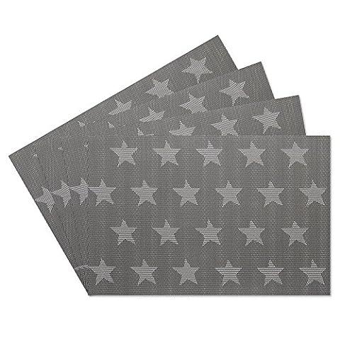 SueH Design Platzsets / Tischsets 4er Set Vinyl 45 * 30 CM Grau