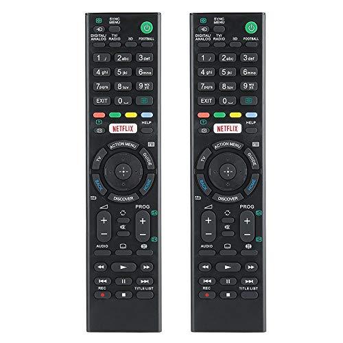 Mugast 2 STÜCKE Ersatzfernbedienung für Sony RMTTX100 KD-43X8301C KD-43X8305C KD-43X8307C KD-43X8308C KD-43X8309C KD-49X8301C KD-49X8305C KD-49X8307C