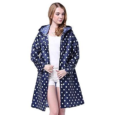 Regenmantel Regenjacken Damen Regen Poncho mit Kapuze modische Regenkleidung für Frauen und Mädchen - Très Chic Mailanda