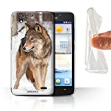 Stuff4 Gel Phone Case for Huawei Ascend G630 Wildlife