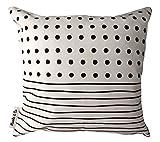 Koala & Co - Dekorative niedliche Kissenbezug, sofa Kissenbezüge Schwarzweiss-einfaches geometrisches Musterweinlese, P