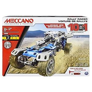 Meccano 10 Model Set Trophy Truck - Juegos de construcción (Juego de construcción de Varios Modelos de vehículos, 8 año(s), 159 Pieza(s), Negro, Azul, Plata, China, 570 g)