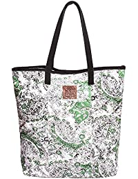 Risa Women's Paisely Suede Tote Bag