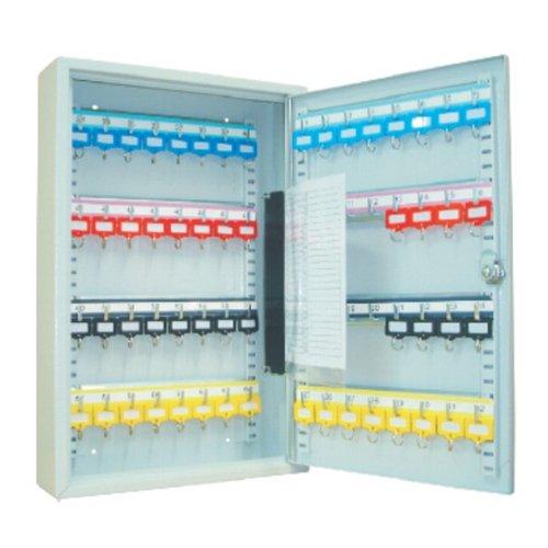 #Schlüsselkasten / Schlüsselschrank 450x380x80 mm, 64 Haken, lichtgrau, inkl. Schlüsselanhänger#