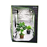 EC Breath Growzelt 120X120X200cm Growbox Growschrank Gewächszelt Zuchtzelte Zuchtschrank Pflanze Zelt Garten Wachstum Box für Homegrowing, Indoor Pflanzenzucht, Ganzjährige Pflanze, schwarz
