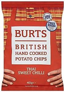 Burts Potato Chips Sweet Chilli 40 g (Pack of 20)