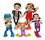 Hape-Puppenfamilie Komplett-Geschenk-Set: Papa, Mutter, Tochter, Mädchen & Sohn und Märchenbüchlein