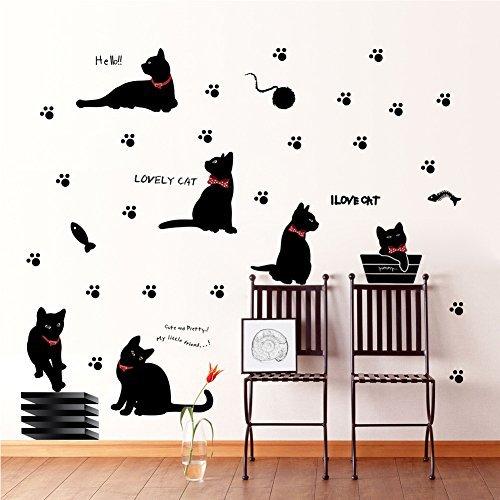 missofsweet-lovely-black-cat-bedroom-living-room-kitchen-decoration-art-mural-by-missofsweet