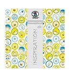 Ursus 703000109 - Premium Glitter Scrapbook Paper Baby Boy, ca. 30,5 x 30,5 cm, 5 Blatt, Motiv 109