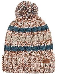 Weird Fish Vito Twisted Yarn Bobble Hat Brick Orange Size ONE 4161d7fc9597