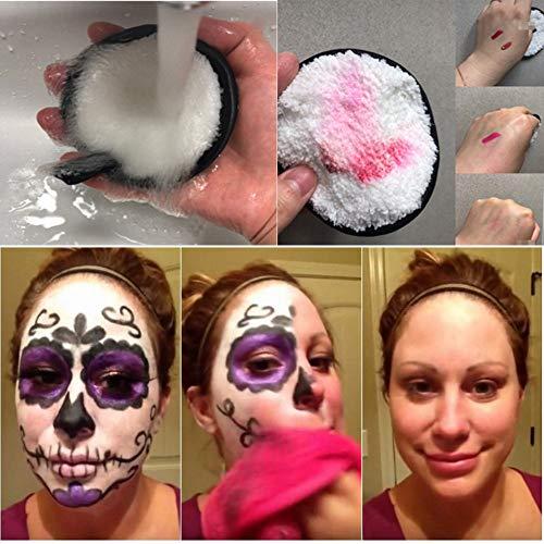 Lingettes Microfibre Démaquillant Visage Makeup Beauty Maquillaje 1pcs (Noir)