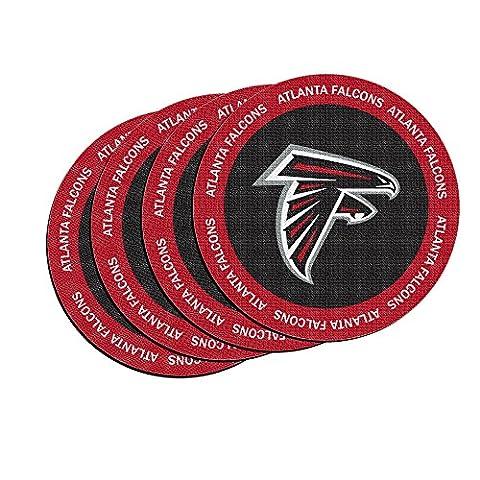 NFL Atlanta Falcons Neoprene Ring of Honor Coasters, Set of