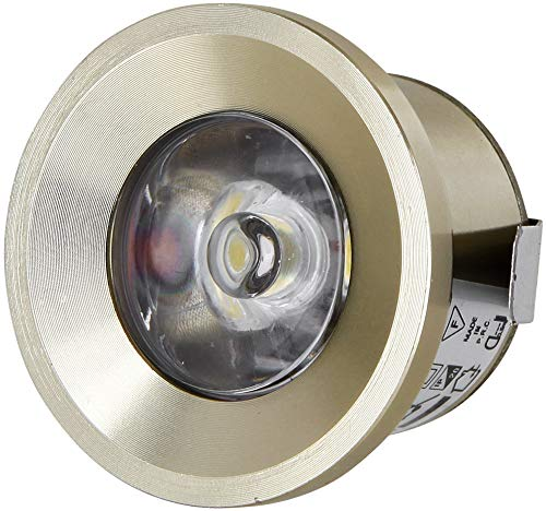 LED Mini Spot Aluminium Einbaustrahler 230V - Vollmetall - 1W 80lm - tagesweiß (4200 K)