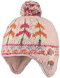 42a12344dc61 Barts-Bonnet peruvien Jacquard rayé Blanc Ivoire Rose bébé Fille du 1 au 3  Ans