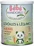 Bébé Mandorle Céréales/Légumes 6+ Mois 400 g - Lot de 3