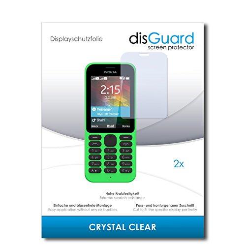 disGuard® Bildschirmschutzfolie [Crystal Clear] kompatibel mit Microsoft Nokia 215 [2 Stück] Kristallklar, Transparent, Unsichtbar, Extrem Kratzfest, Anti-Fingerabdruck - Panzerglas Folie, Schutzfolie