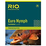 Rio Brands Redington Euro Nymph with Tippet Ring Fishing Leaders, Clear