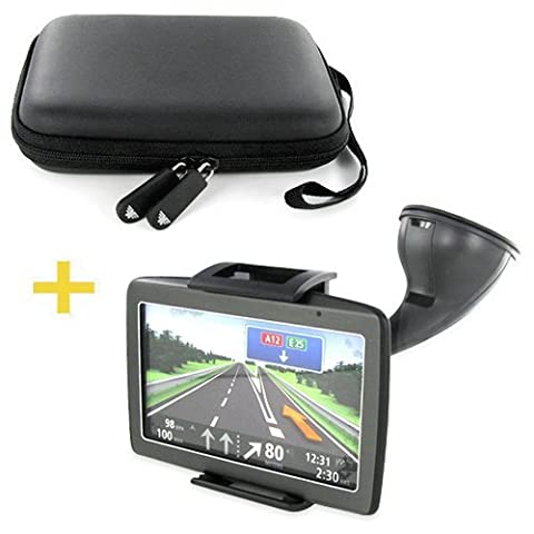 MONTOLA® Capto X1 KFZ Universal Navigation Halterung stabil & Hardcase Tasche Navi GPS-System / TomTom Go Start Live Falk F-Serie Neo Flex / Garmin Nüvi Zumo / Navigon / Becker Active Professional Ready /Medion GoPal / Design made in Germany