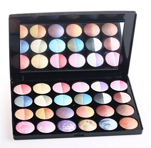 Palette de Fard à paupières, FantasyDay 24 Couleurs Professionnelle Shimmer Matte Ultra Pigmenté Bases de Ombre à paupières Maquillage Palette Cosmétique Set - Eyeshadow Makeup Beauty Kit