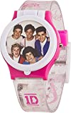 One Direction Children's Quartz Watch with White Dial Digital Display and White Plastic Strap ON014WH
