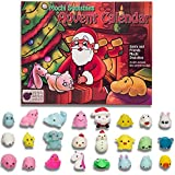 Purple Ladybug Novelty Mochi squishy advent calendar for kids with 24 different cute mochi squishies including Santa! Super gift! 24 kawaii squishy toys! SANTA TREE Toy Advent Calendars 2018