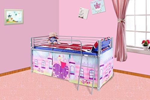 foxhunter-childrens-metal-mid-sleeper-cabin-bunk-bed-kids-tent-single-3ft-fairy-castle-no-mattress-n