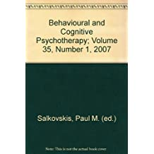 Behavioural and Cognitive Psychotherapy; Volume 35, Number 1, 2007