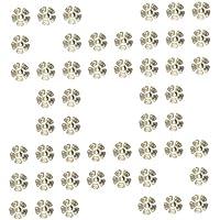 50pcs Argento Placcato Metallo Tappi Perline Fiore Distanziatori Risultati Gioielli Fai Da Te 8 Millimetri