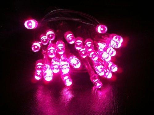 HLS 1 x 30 LED AA Akku-String Fairy Licht in rosa