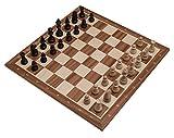 ROMBOL Schachset 'Heinrich in Kopenhagen', Schachbrett (FG 58) mit Figuren (KH 96) in einer Figurenkiste, aus Holz