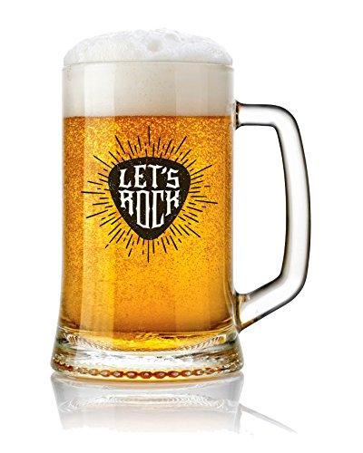 Jarra de Cerveza vidrio 50 cl. con frases Modelo Let's Rock
