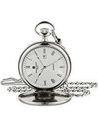 Charles-Hubert Paris 3978-TR Classic Collection Analog Display Japanese Quartz Pocket Watch