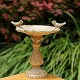 Meubles De Jardin Best Deals - Dollhouse Meubles de jardin Fée miniature en résine Oiseau Fontaine Bath échelle 1/12