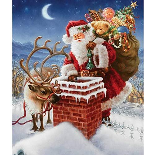 Giunuak DIY 5D Diamant Malerei Santa Claus Kreuzstich Diamond Mosaic (Claus Anzüge Santa Kaufen Zu)