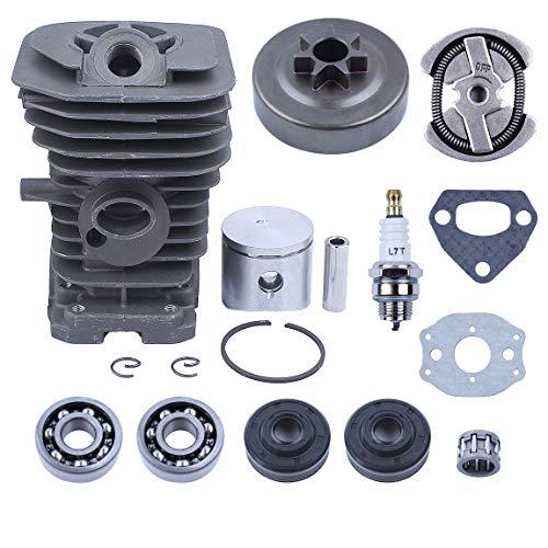 Haishine 38mm Motor Zylinder Kolbentrommel-Wellendichtring-Kit für Husqvarna 142 141 137 136 Kettensägen-Motorteile