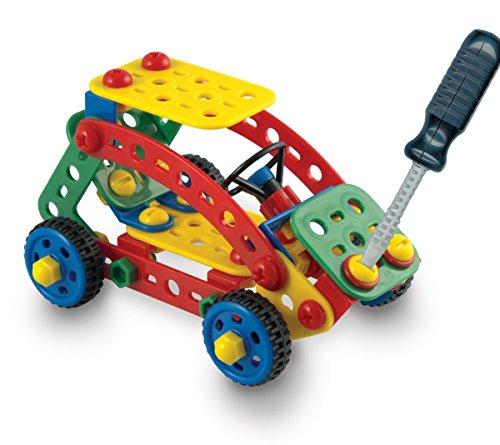 Preisvergleich Produktbild Quercetti Tecno Toolbox Steckspiel mit Kinderwerkzeug Auto bauen