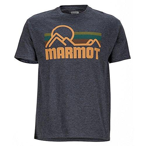 Marmot Herren Coastal Tee Ss T-Shirt, Rose, xxl New Charcoal Heather