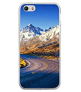 ifasho Designer Back Case Cover for Apple iPhone 4 (Rocks Rock State Highways Ice Sketting)