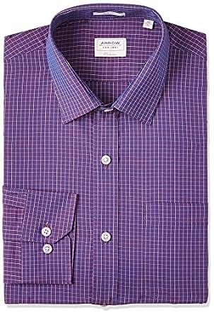 Arrow Men's Slim Fit Cotton Formal Shirt (ASTF0356_44FS_Me Lavender)