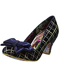 Irregular Choice Women's Ban Joe Closed-Toe Heels, Blue (Navy/Gold), 8 UK 42 EU