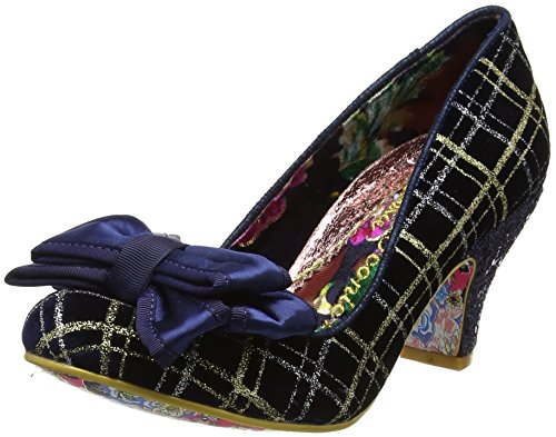 Irregular Choice Ban Joe, Damen Pumps, Blau (Navy/Gold), 42 EU (8 UK) (Rich Gold Schuhe)