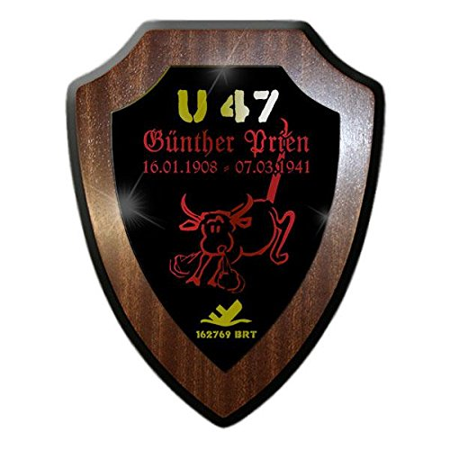Copytec Wappenschild Günther Prien U47 U-Boot Kommandant Stier Scapa Flow Wappen Kriges_Marine Nord-Atlantik #22121
