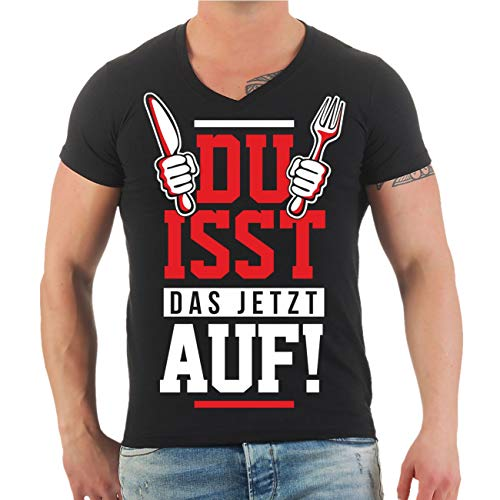 Männer und Herren T-Shirt Hobby Koch - Du isst Das jetzt auf! Größe S - 8XL