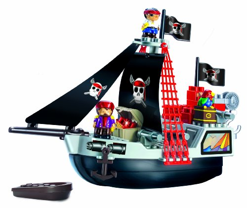 Ecoiffier-Abrick-Pirate-Ship-Playset