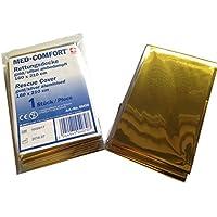 MED-COMFORT Erste-Hilfe Rettungsdecke Rettungsfolie Notfalldecke 160 x 210cm (10) preisvergleich bei billige-tabletten.eu