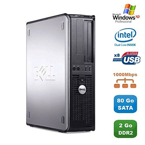 PC DELL Optiplex 760 DT Intel Dual Core E5200 2,5Ghz, 2 GB DDR2 SATA 80Go XP - Xp-cd Dell Windows