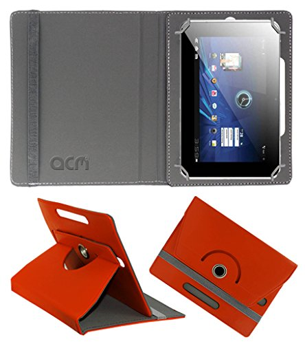 Acm Rotating 360° Leather Flip Case for Karbonn Smart Tab 2/3 Cover Stand Orange  available at amazon for Rs.149