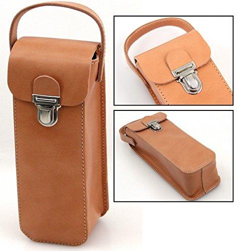 Unbekannt Boule Leder Tasche, Premiumprodukt aus Vollrindleder für 3 Boule Kugeln
