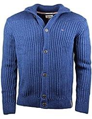 pull hiver Hilfiger Denim elliot cardigan l/s bleu